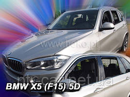 Дефлекторы окон (ветровики)  BMW X5 - (F15) 5D 2011→(HEKO)