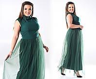 Вечернее платье в пол сетка больших размеров