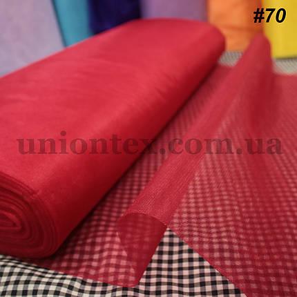 Фатин средней жесткости Kristal tul красный, ширина 3м, фото 2
