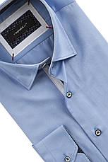 Рубашка мужская  Slim голубая, фото 3