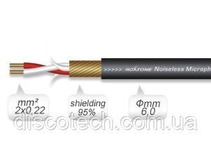Кабель микрофонный Roxtone MC002, 2х0.22 кв. мм, вн. диаметр 6 мм, 100 м