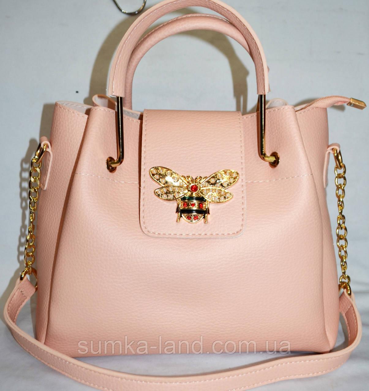 71829136b5c5 Женская пудровая сумка Gucci в комплекте с клатчем (2 в 1) 27 25 см ...