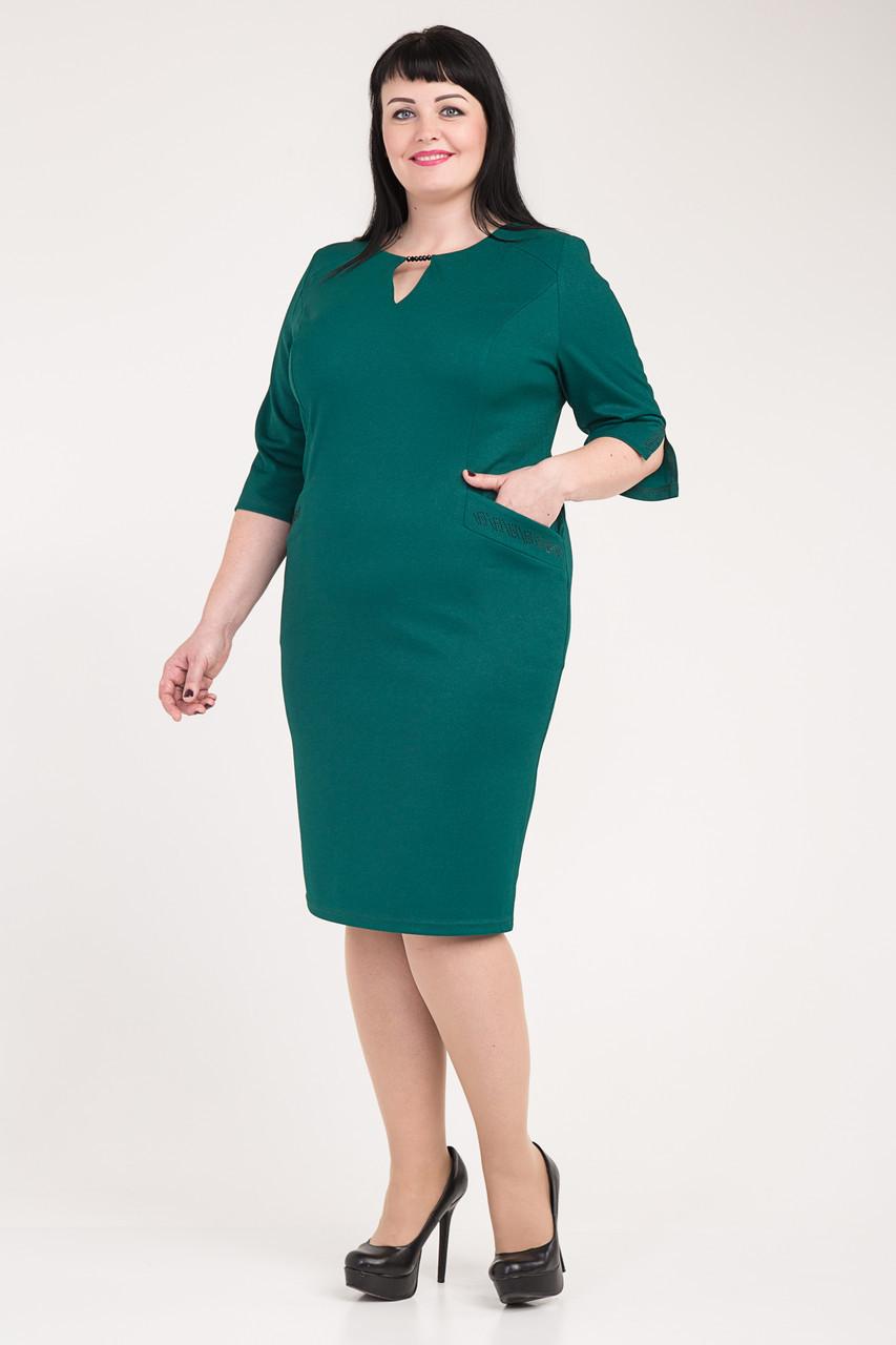a4dd4509681bf Купить Модное женское платье больших размеров Эльвиру м-334 оптом и ...