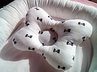 """BABYNEST """"Бантик"""". Позиціонер. Кокон. Гніздечко для новонароджених.  Гнездышко для новорожденных."""