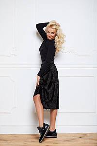 Бархатная плиссированная юбка на резинке от FFY