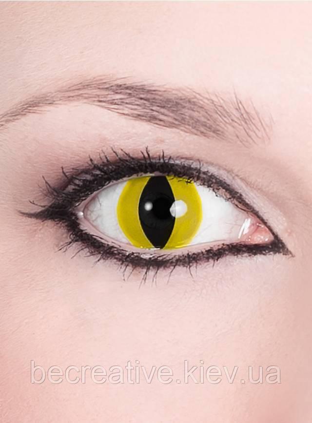 Желтые декоративные контактные линзы