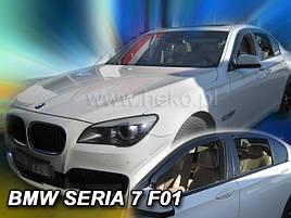 Дефлектори вікон (вітровики) BMW seria 7 F01 4d 08→(HEKO)