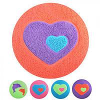 Коврик напольный ПВХ J01062 круглый, 50см, разные цвета, коврики для ванной, коврик в ванную, коврик для туалета