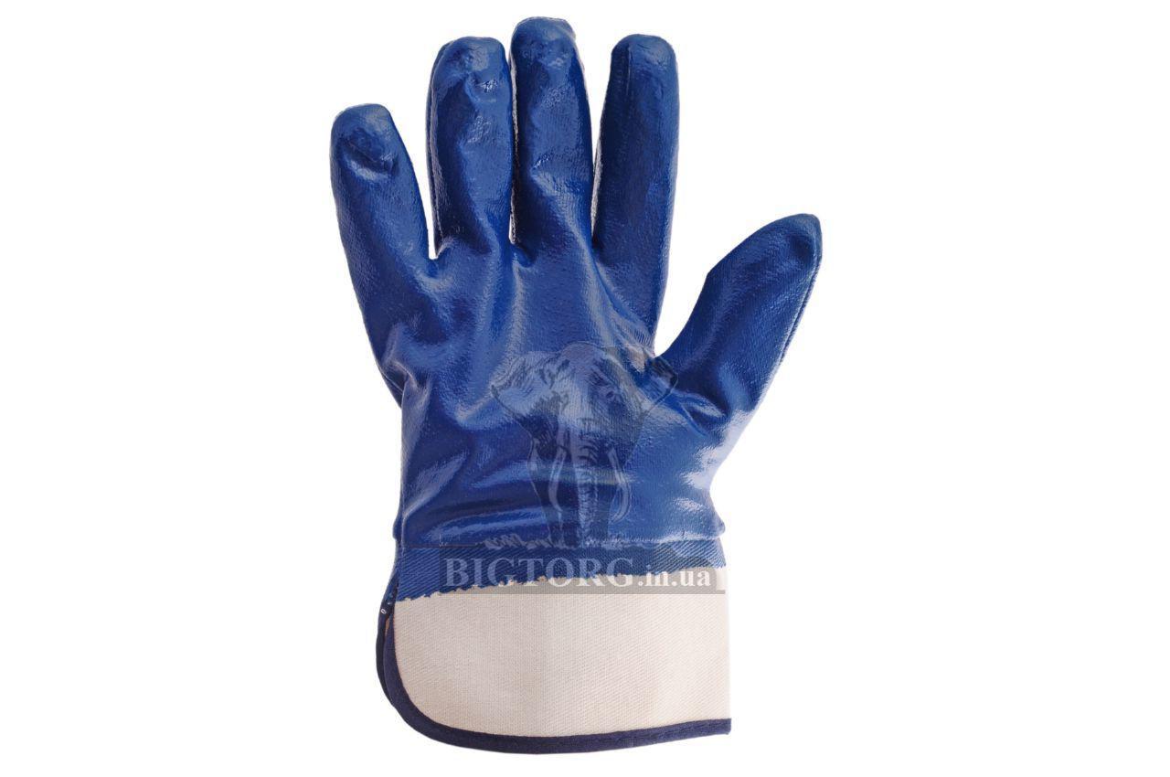 Перчатки Intertool - масло-бензостойкие с твердым манжетом 10 a8b3bcd056c26