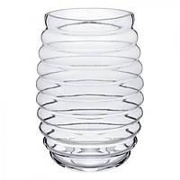 Ваза стеклянная VS1431 Lamelle 25 см, стеклянная ваза для цветов, вазочка для цветов, стеклянная вазочка, вазы