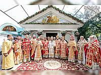 Церковная мозаика фронтона храма