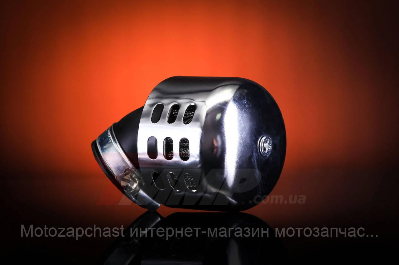 Фильтр нулевик закрытый хром d=42mm под 45 градусов