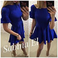 Платье женское летние, супер софт, Новинка 2018,цвет синий, фото 1