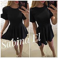Платье женское летние, супер софт, Новинка 2018,цвет чёрный, фото 1