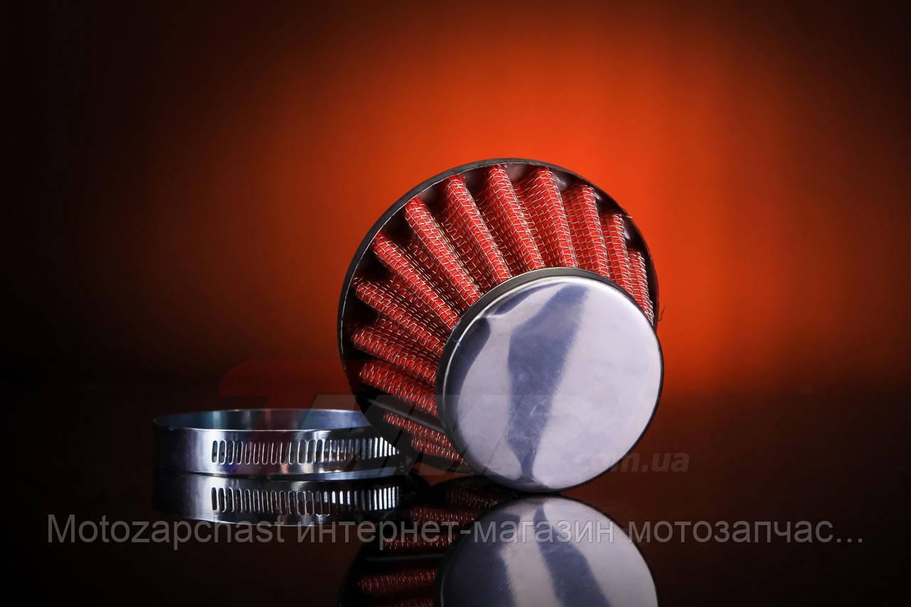 Фильтр нулевик открытый d=42mm красный