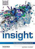 Учебник insight Pre-Intermediate, Jayne Wildman | Oxford
