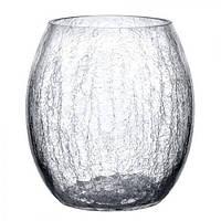 Ваза стеклянная VS2071 Glace 15 см, стеклянная ваза для цветов, вазочка для цветов, стеклянная вазочка, вазы