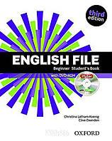 Учебник с DVD English File Beginner, третье издание, Christina Latham-Koenig   Oxford