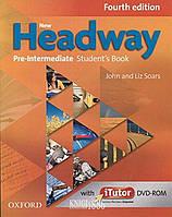 Учебник с онлайн дополнением New Headway Pre-Intermediate A2 - B1, John Soars   OXFORD
