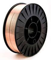 Проволока сварочная омедненная СВ08Г2С (ER70S-6) 0,8 мм на 5 кг кассете