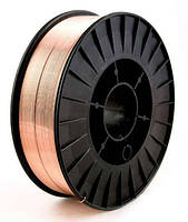 Дріт зварювальний СВ08Г2С (ER70S-6) 1,0 мм на 5 кг касеті