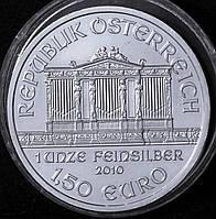 Серебряная монета Австрии  1,5 евро  2010 г. Филармония