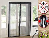 Москитная сетка на дверь Magnetic Mesh (белая,черная,серая), фото 1