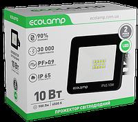 Прожектор светодиодный 10W алюминиевый корпус Ecolamp