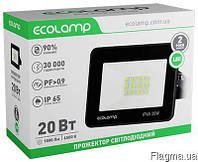 Прожектор светодиодный 20W алюминиевый корпус Ecolamp