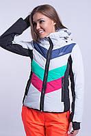 Куртка женская лыжная Зеленый с малиновым
