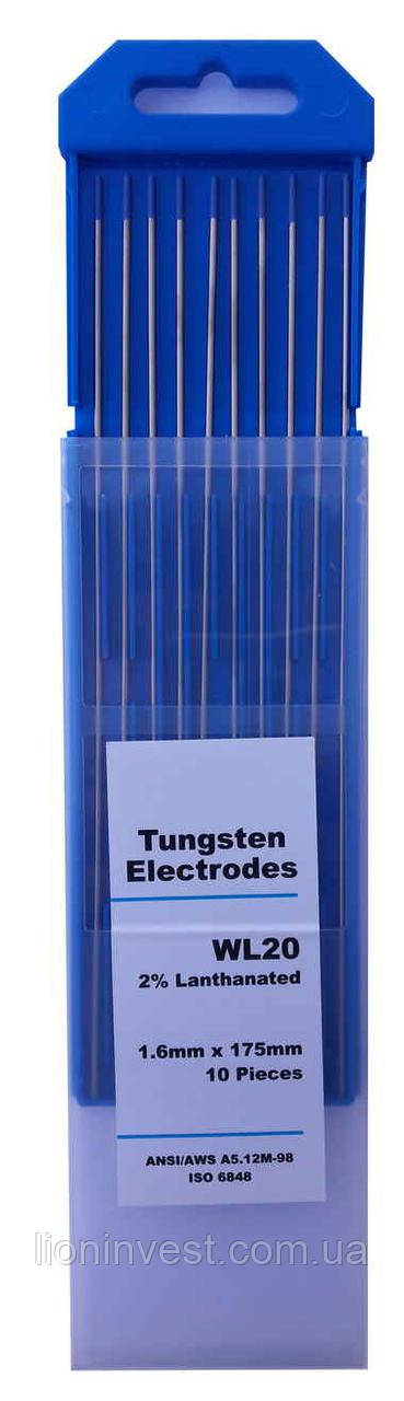 Вольфрамовые электроды WL-20 d=1,6 мм