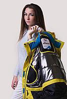 Куртка женская лыжная Желтый