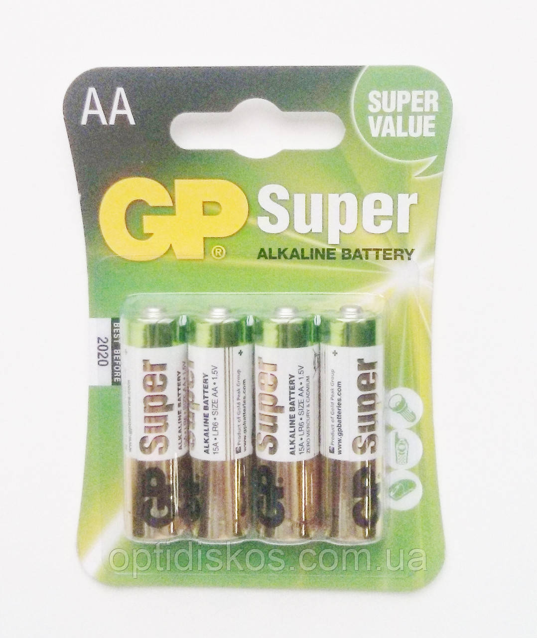 Батарейка GP SUPER LR06,AA