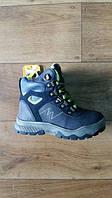 Зимние ботинки Clibee, для мальчиков салатовый шнурок, размер 27-32