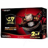 Вьетнамский натуральный растворимый кофе с сахаром 2 в 1 G7 Trung Nguen Coffee ca phe duong