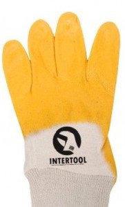 """Перчатки рабочие """"INTERTOOL"""" (Size 10) нитриловые"""