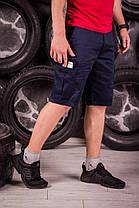 Стильные мужские шорты нави с карманами карго, фото 3