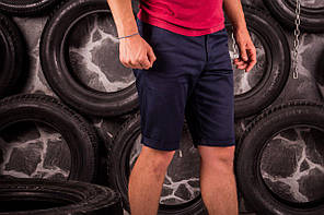 Стильные мужские шорты карго цвета нави, фото 2