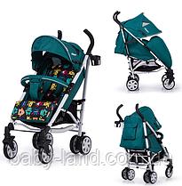 Коляска трость детская прогулочная лён CARRELLO Allegro CRL-10101 Monster Green