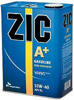 Масло моторное Zic A+ 10W-40 (Канистра 4литра) для бензиновых двигателей