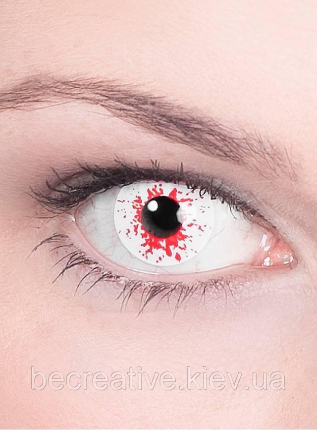 Декоративные контактные линзы. Эффект зараженного глаза