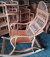 Кресло качалки на пружине плетеные
