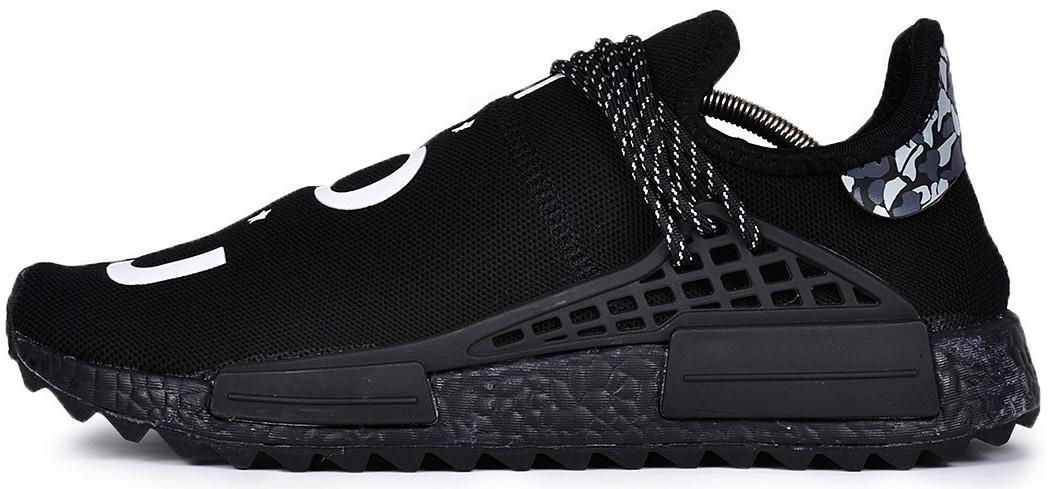 Мужскиекроссовки adidas NMD Human Race Pharrell Williams Black (Адидас) черные