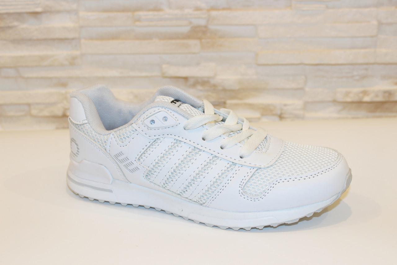 Кроссовки модные белые Т982