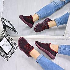 """Кеды, кроссовки, криперы, мокасины женские бордовые """"Flexible"""" текстиль спортивная, повседневная, летняя обувь, фото 2"""