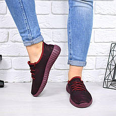 """Кеды, кроссовки, криперы, мокасины женские бордовые """"Flexible"""" текстиль спортивная, повседневная, летняя обувь, фото 3"""