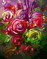 """Раскраска для взрослых и детей """"Яркие розы"""" Картина по номерам"""