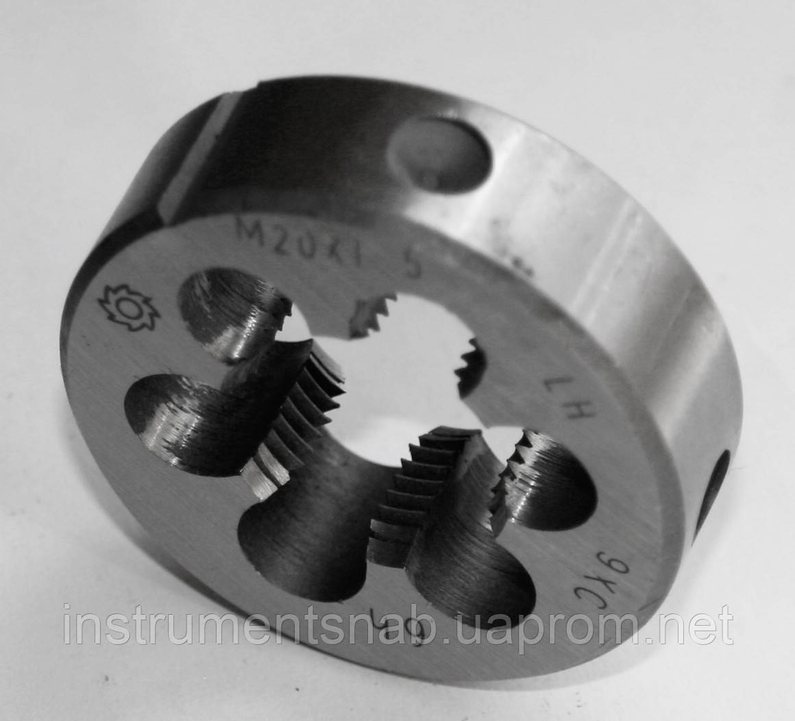 Плашка левая М-20х1,5 LH, 9ХС, (45/18 мм), мелкий шаг