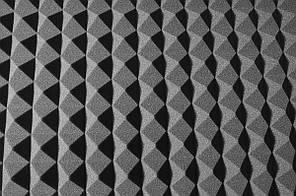 Акустичний поролон Ecosound піраміда 30 мм чорний графіт 1х1м
