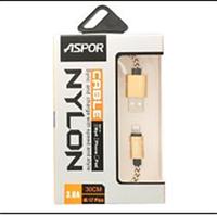 Кабель Aspor A175 iPhone 5/6/7 0.3m для Power Bank